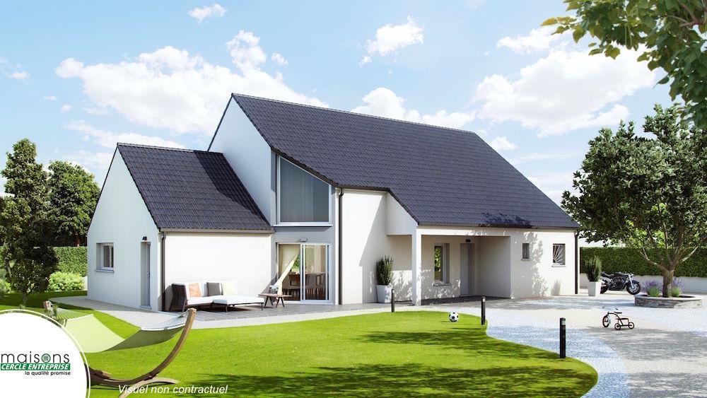 maison contemporaine vitrage en angle