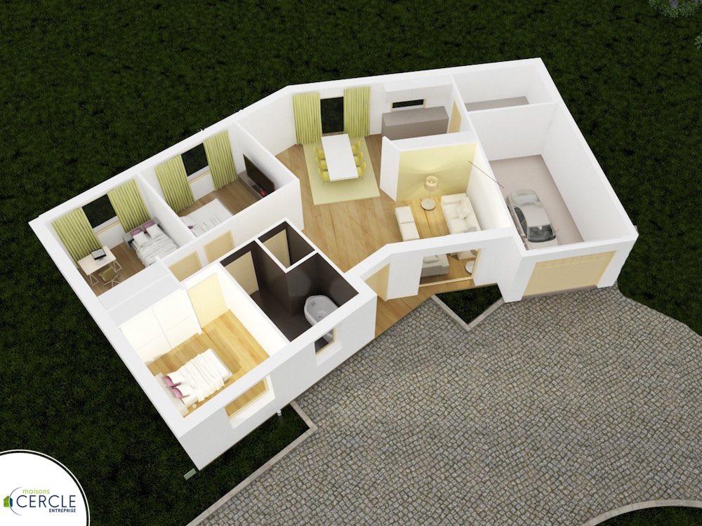 Cercle maison en V 88 Design
