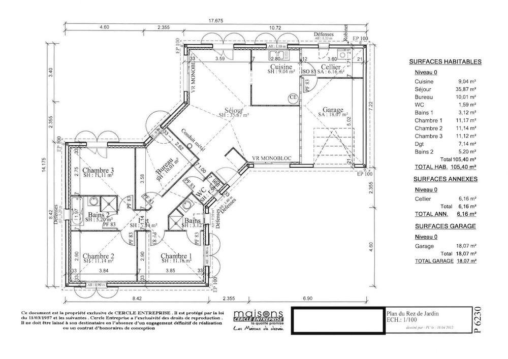 Plan De Maison En V Plain Pied  PindexCo  Ides Et Images De
