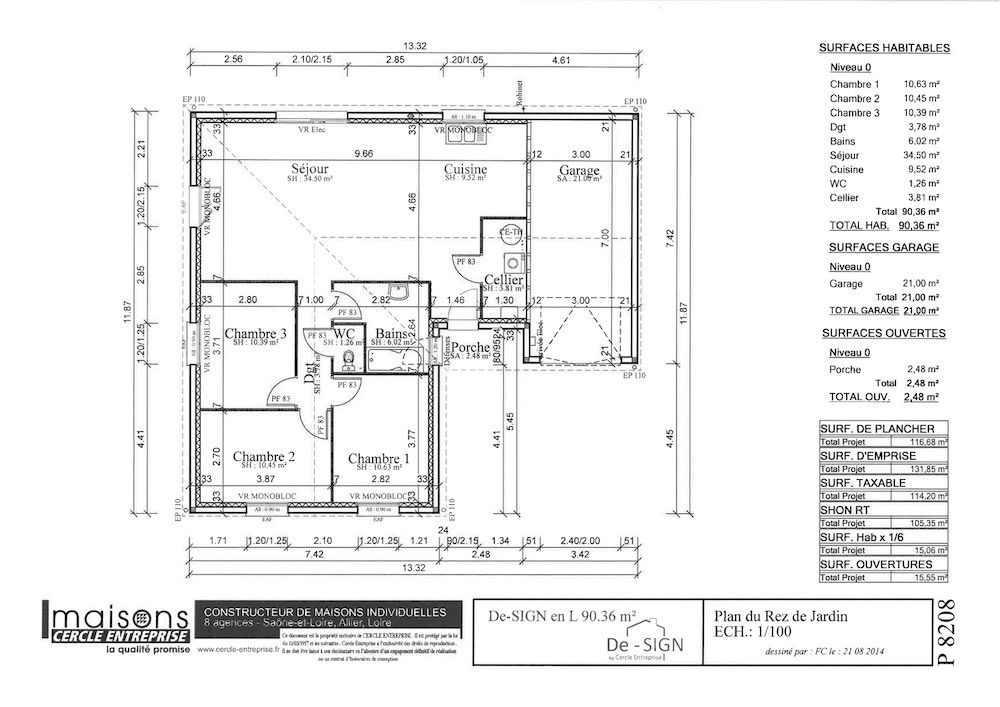 Plan design 90 L