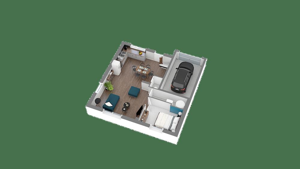 Design 85 89 m2 maison low cost 1