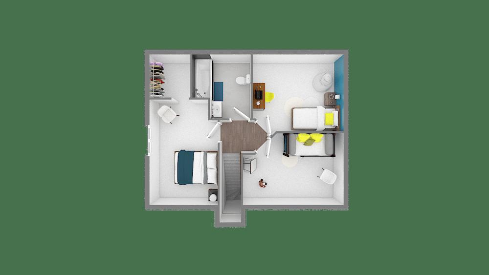 Design 85 89 m2 maison low cost 2