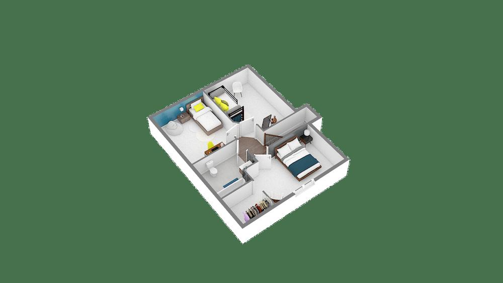 Design 85 89 m2 maison low cost 3