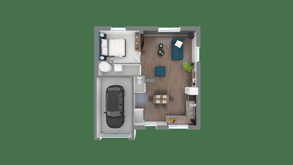 Design 85 89 m2 maison low cost 4