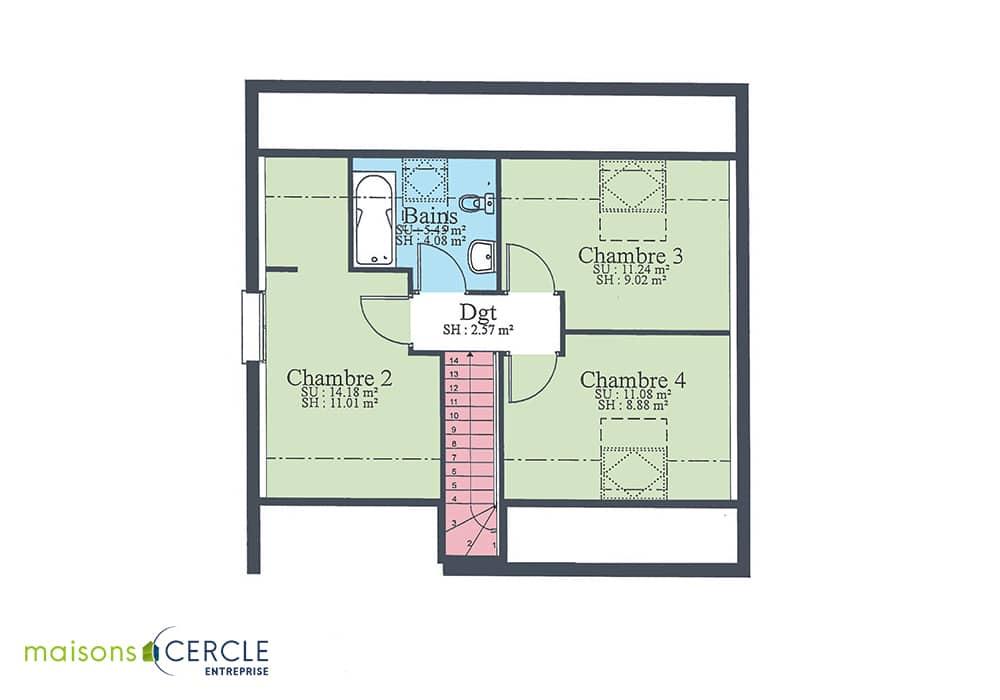Modèle maison design 85