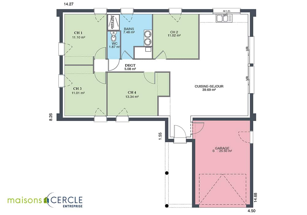Plan de la maison Atrium
