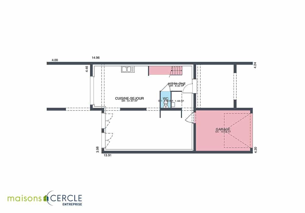 Modèle de maison 3D RDC