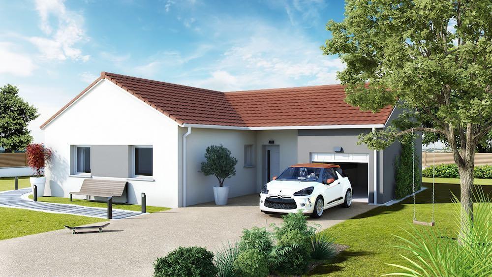 maison en L design