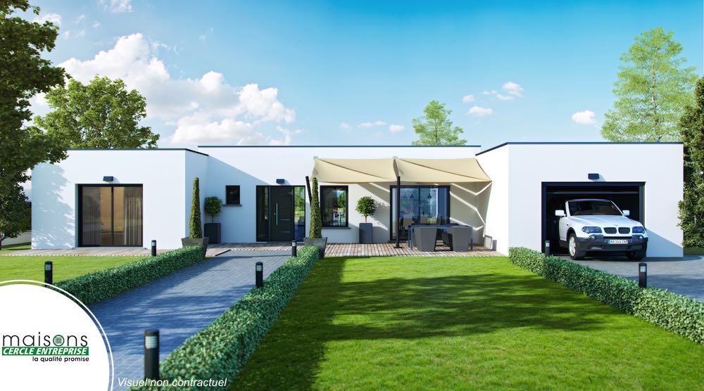 Esthetia maison contemporaine plan en h - Exemple de plan de maison gratuit ...