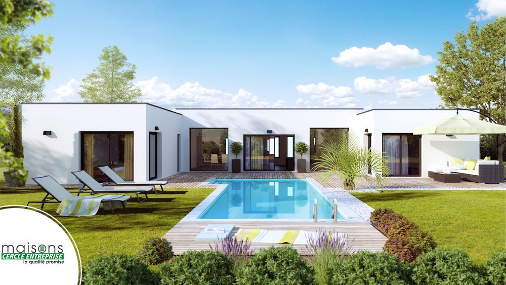 Maison contemporaine mod les et plans cercle enteprise - Total renovation ma maison sur mesure ...