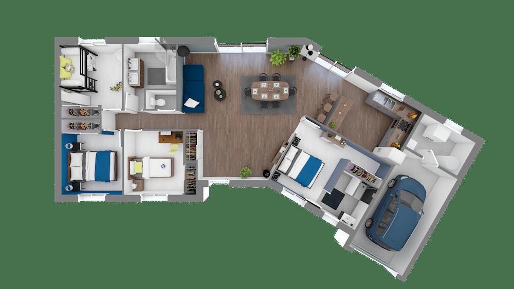plan maison CERCLE_Vega_7_APS-Vuededessus