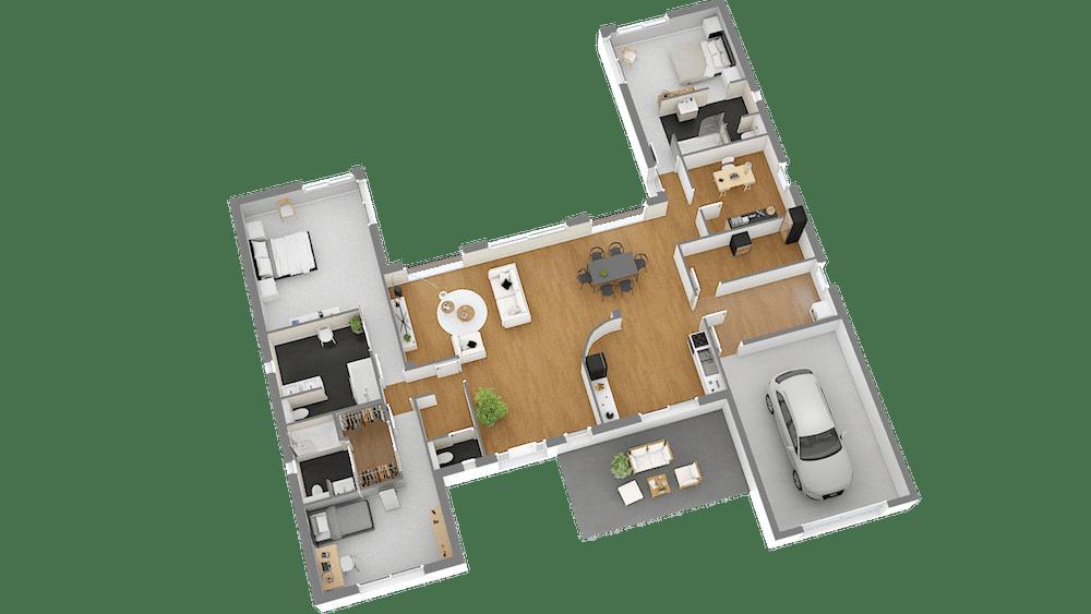 plan de maison un seul etage