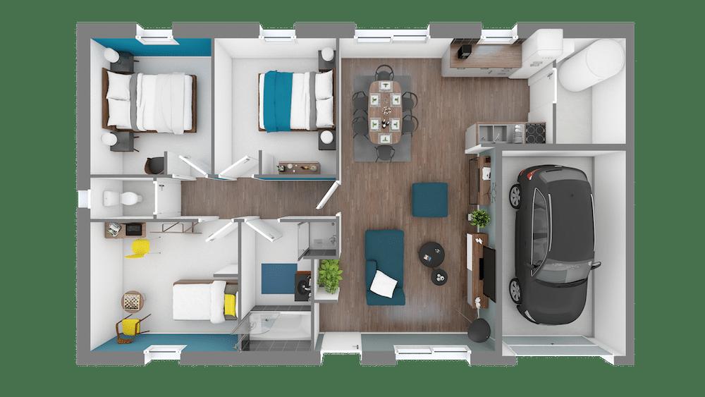 Plan Maison Design 80 1