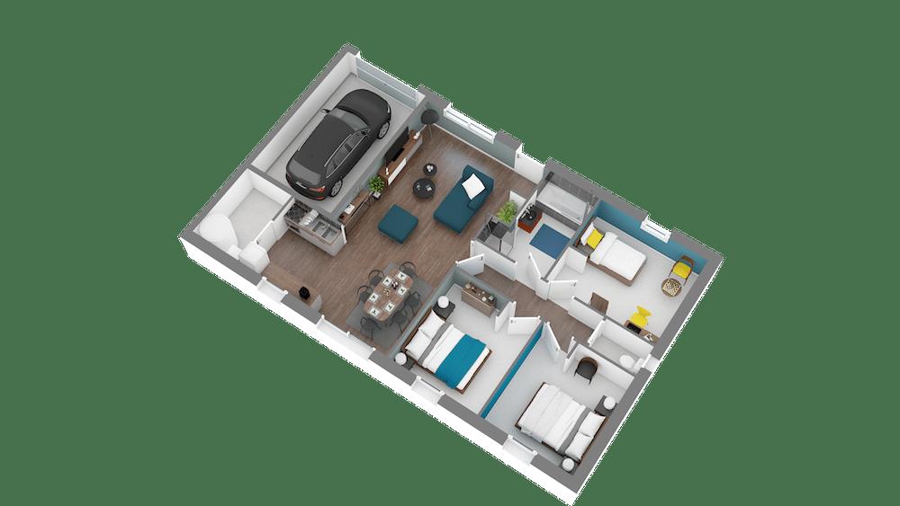 Plan Maison Design 80 3