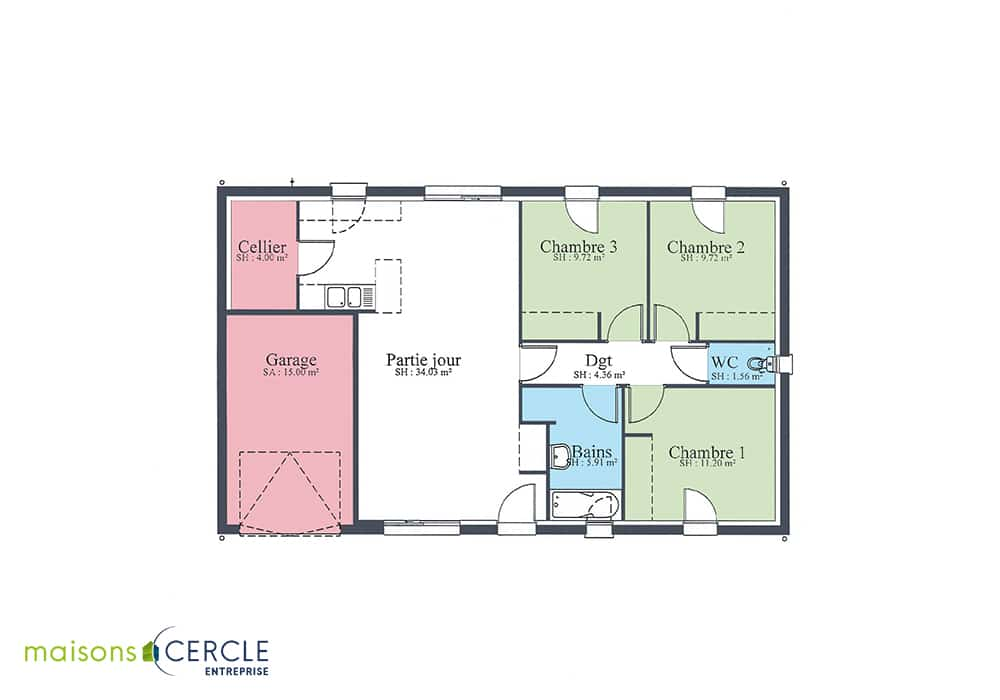 Plan maison 80m