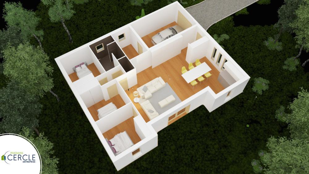 Persan maison de style moderne de plain pied for Site 3d maison