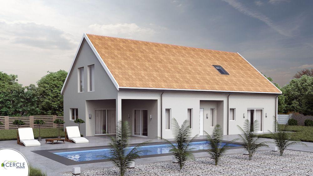 maison avec porche et auvent ermitage