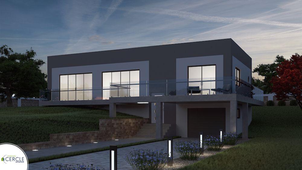 omnium maison moderne toit plat. Black Bedroom Furniture Sets. Home Design Ideas