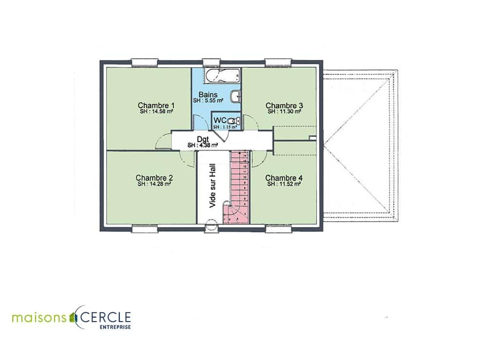 Plan d'une maison Vincennes - étage