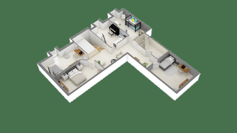 Plan 3D chasseliere-Etage