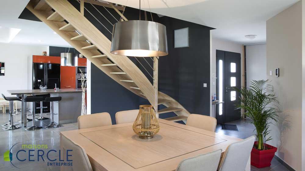 Visite d\'une maison contemporaine neuve en photos
