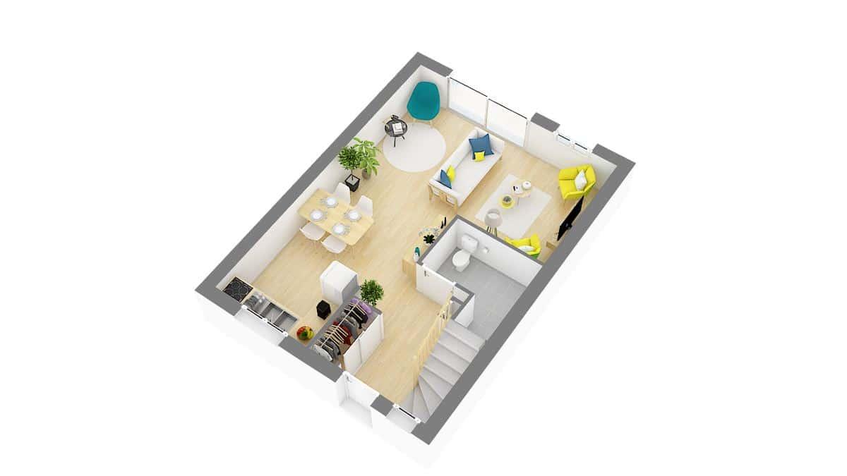 Maisons Cercle ENtreprise-Extensia-g0-axo_rdc