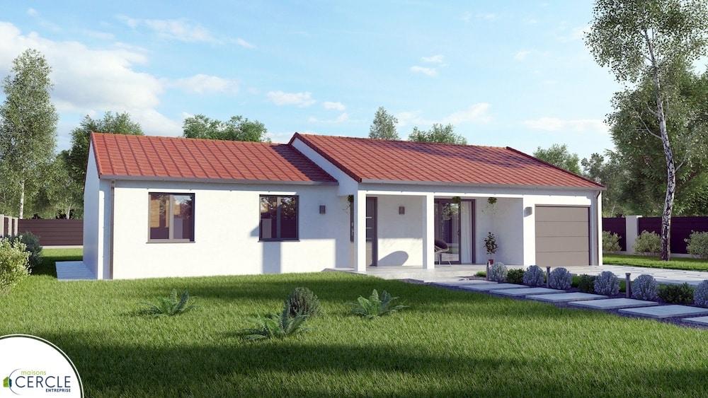 Modele de maison Bruyere front angle