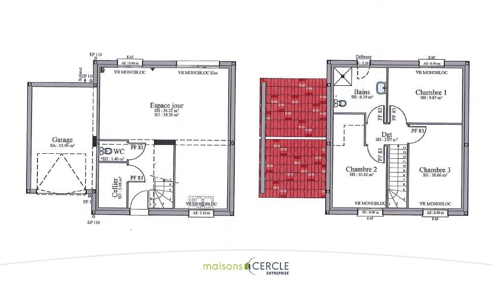 Plan_maison_Etage_extensia 80R copie