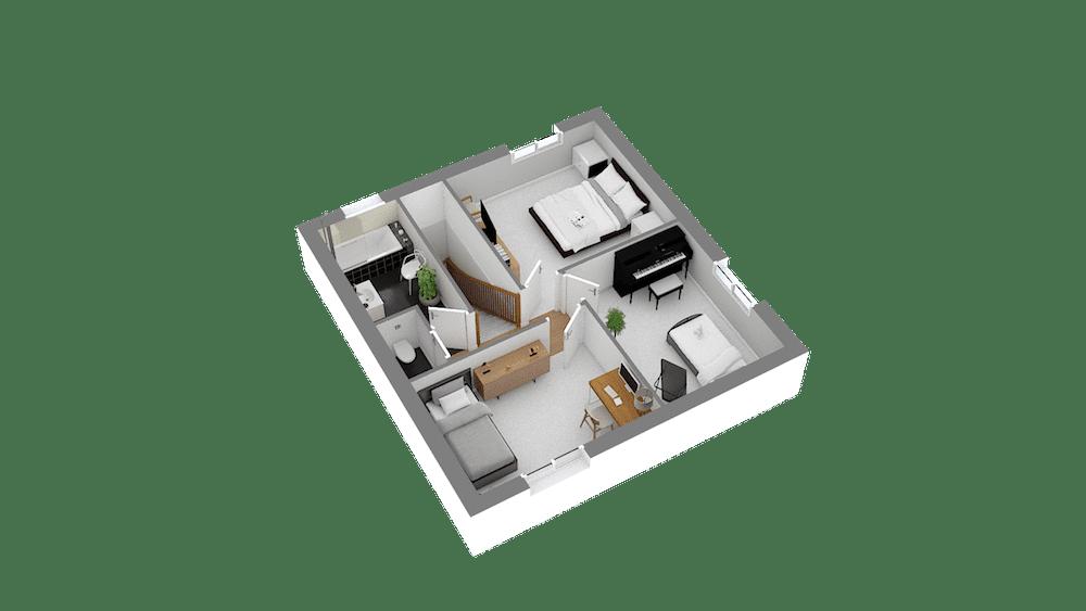 plan maison Cairanne_f5-Etage