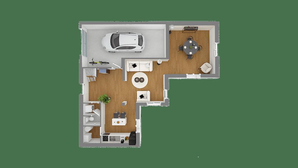 plan maison Cairanne_f5-Vuededessus