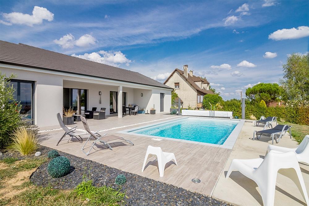 Maison moderne avec piscine en bourgogne - Maison d hote en alsace avec piscine ...
