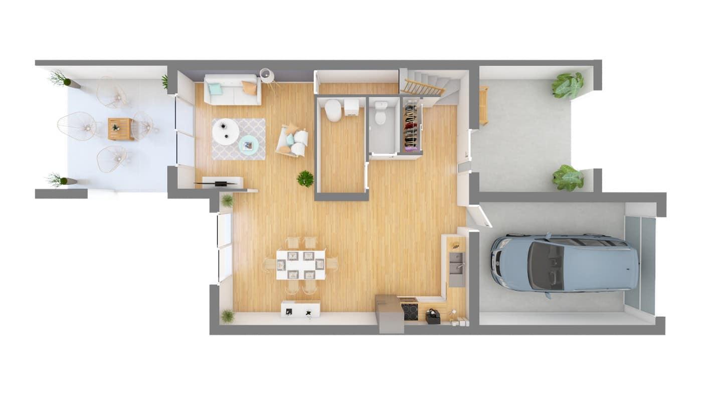 Constructeur Cercle Entreprise Maison moderne contemporaine _SYMPHONIE_115-f0-vue_de_dessus_rdc